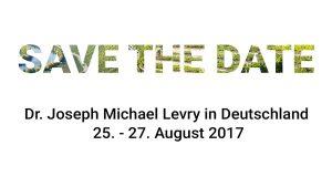 Dr. Joseph Michael Levry Meister der Universellen Kabbalah und Gründer von Harmonyum Heilsystem und Naam Yoga unterrichtet vom 25. - 27. August 2017 in Deutschland
